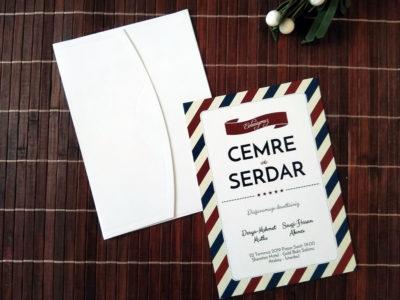Özel tasarım davetiye